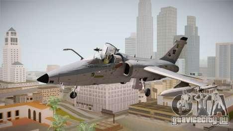 EMB Embraer A-1 AMX FAB для GTA San Andreas вид сзади слева