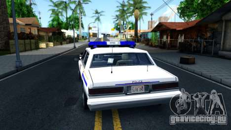 Vapid Stanier Hometown Police Department 1999 для GTA San Andreas вид сзади слева
