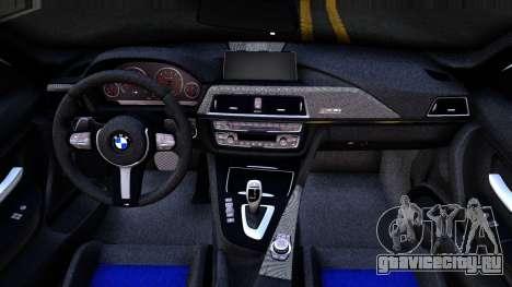 BMW M3 F80 30 Jahre 2016 для GTA San Andreas вид изнутри