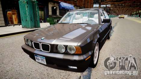 BMW 540i E34 для GTA 4 вид сзади слева