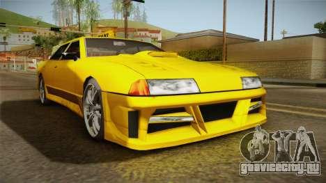 Elegy Taxi Sedan для GTA San Andreas вид справа
