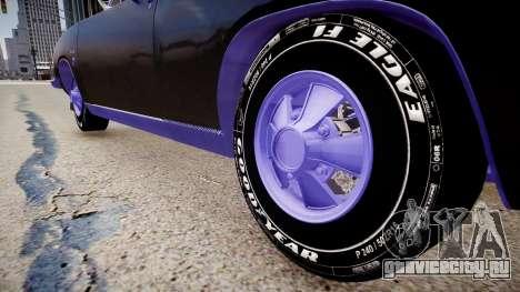 Plymouth Barracuda Formula S для GTA 4 вид сзади