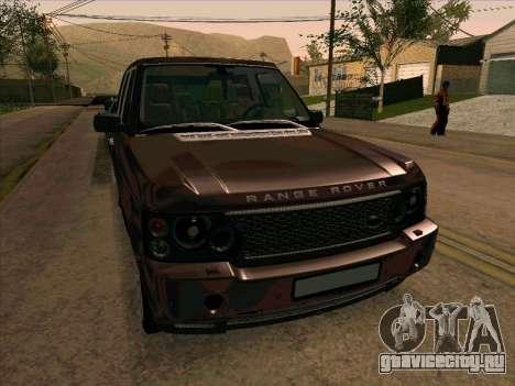 Range Rover Sport 2008 для GTA San Andreas вид снизу