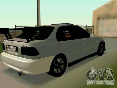 Honda CIVIK FERIO RR для GTA San Andreas вид сзади