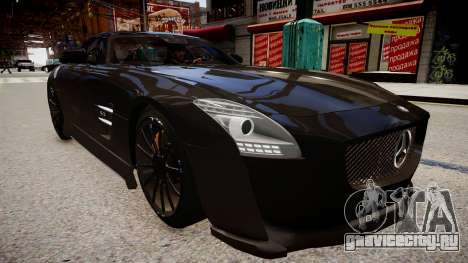 Mercedes Benz SLS Threep Edition для GTA 4 вид справа