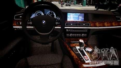 BMW 750 LI v.1.2 для GTA 4 вид изнутри