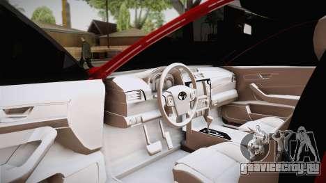 Toyota Camry 2016 для GTA San Andreas вид сзади