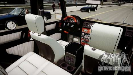 Mercedes-Benz G500 v.2.0 для GTA 4 вид изнутри