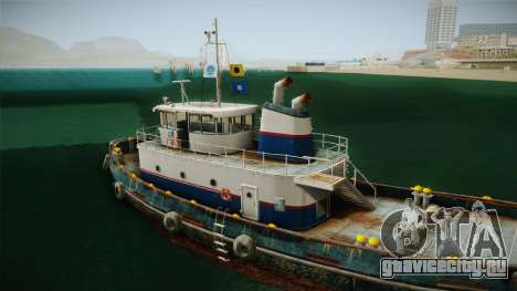 GTA 5 Buckingham Tug Boat для GTA San Andreas вид сбоку