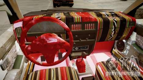 Nissan Pickup 1994 2Doors для GTA 4 вид изнутри