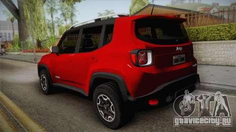 Jeep Renegade 2017 для GTA San Andreas вид слева