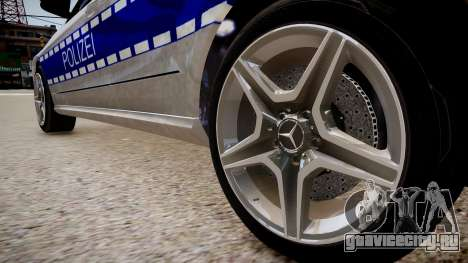 German Police Mercedes Benz E350 для GTA 4 вид сзади