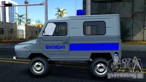 ЛуАЗ 969М Милиция для GTA San Andreas вид слева