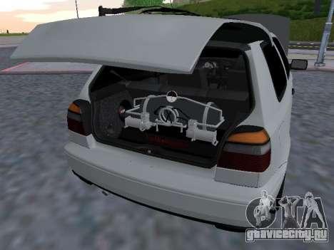 Volkswagen Golf 3 Armenian для GTA San Andreas вид сбоку