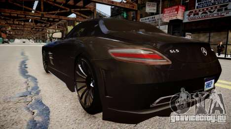 Mercedes Benz SLS Threep Edition для GTA 4 вид сзади слева