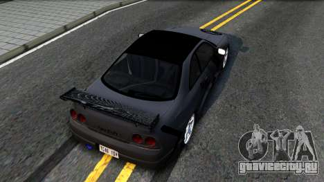 Nissan Skyline GT-R33 Fans Drift для GTA San Andreas вид сзади