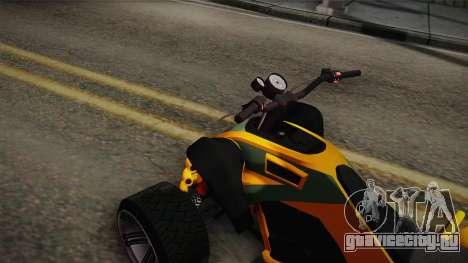 GTA 5 Nagasaki Blazer для GTA San Andreas вид сзади слева