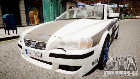Latvian Police Volvo S60R для GTA 4