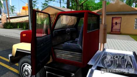 Cement Truck для GTA San Andreas вид изнутри