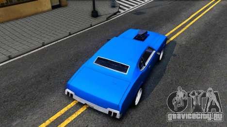 Sabre Tuned для GTA San Andreas вид сзади
