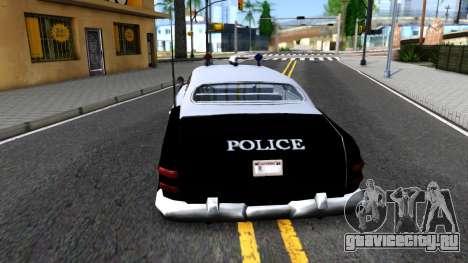 Hermes Classic Police Los-Santos для GTA San Andreas вид сзади слева