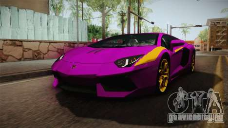 Lamborghini Aventador The Joker для GTA San Andreas вид справа