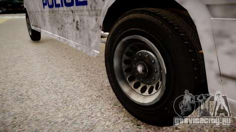 Mercedes-Benz Sprinter Police для GTA 4 вид сзади