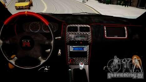 Nissan 200SX Tuning для GTA 4 вид изнутри