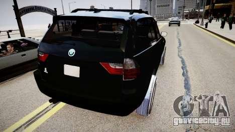 BMW X3 2.5Ti 2009 для GTA 4 вид сзади слева