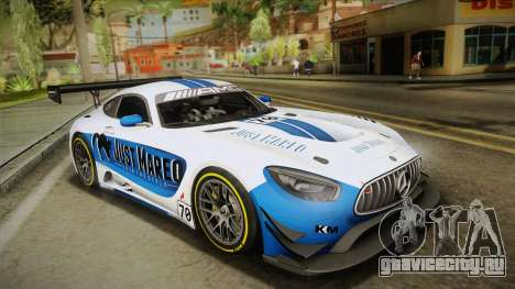 Mercedes-Benz AMG GT3 2016 для GTA San Andreas двигатель