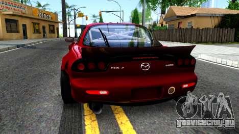Mazda RX-7 Rocket Bunny для GTA San Andreas вид сзади слева