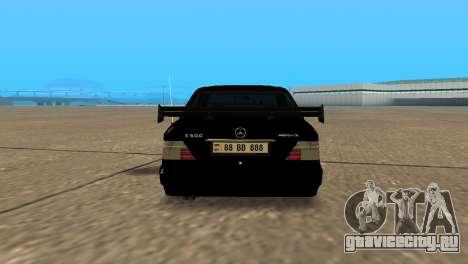 Mersedes-Benz E500 W124 Armenia для GTA San Andreas вид сзади слева