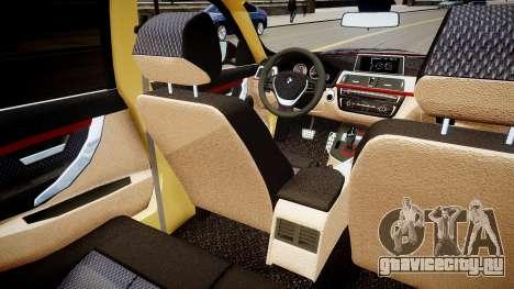BMW 335i 2013 для GTA 4 вид изнутри