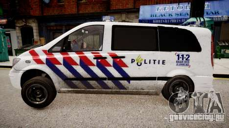 Mercedes-Benz Vito 115 CDI Dutch Police для GTA 4 вид сзади слева