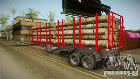 Double Trailer Timber Brasil v2 для GTA San Andreas вид слева