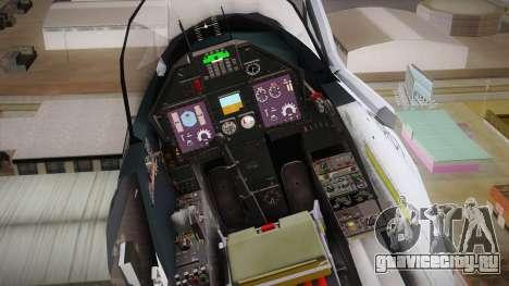 EMB Embraer A-1 AMX FAB для GTA San Andreas вид изнутри