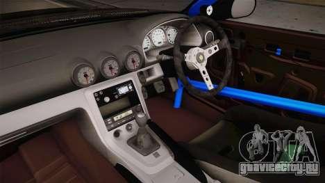 Nissan Silvia S15 D-Max Kit для GTA San Andreas вид изнутри