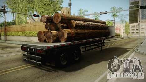 GTA 5 Log Trailer v3 для GTA San Andreas вид сзади слева