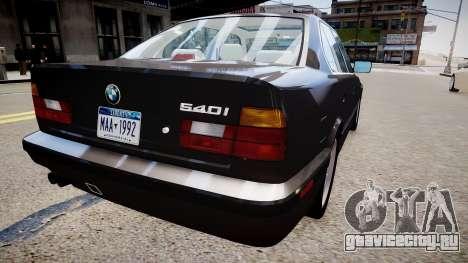 BMW 540i E34 для GTA 4 вид справа