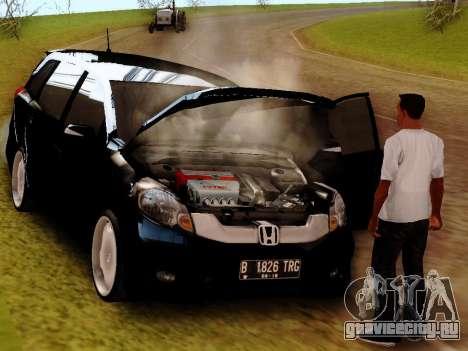 Honda Mobilio для GTA San Andreas вид сзади слева