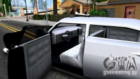 Hermes Classic Police Los-Santos для GTA San Andreas вид изнутри