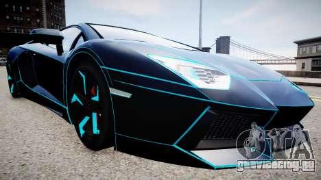 Lamborghini Aventador TRON Edition для GTA 4 вид справа