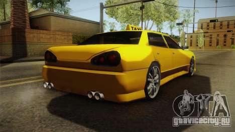 Elegy Taxi Sedan для GTA San Andreas вид сзади слева