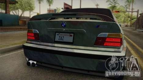 BMW M3 E36 TANK для GTA San Andreas вид сзади