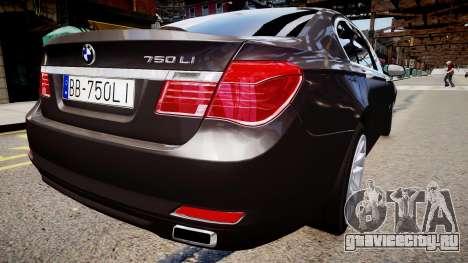 BMW 750 LI v.1.2 для GTA 4 вид сзади слева