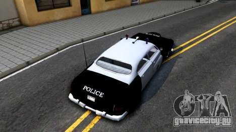 Hermes Classic Police Los-Santos для GTA San Andreas вид сзади