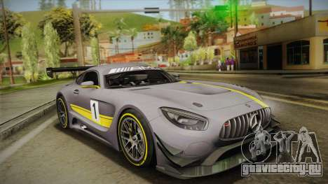 Mercedes-Benz AMG GT3 2016 для GTA San Andreas салон