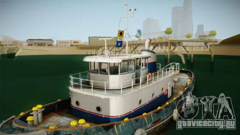 GTA 5 Buckingham Tug Boat для GTA San Andreas вид изнутри