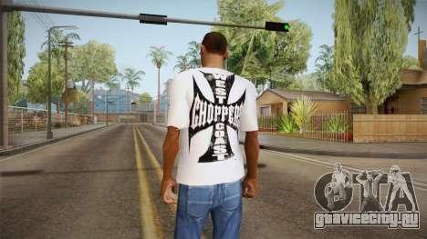 Белая футболка с брендом W.C. Choppers для GTA San Andreas второй скриншот