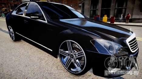 Mercedes-Benz W221 S500 для GTA 4 вид справа